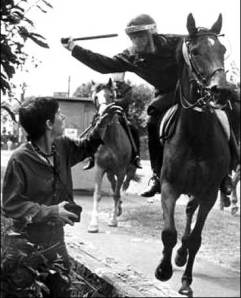 Miners' strike:Confrontation at orgreave pic courtesy Colchester TUC