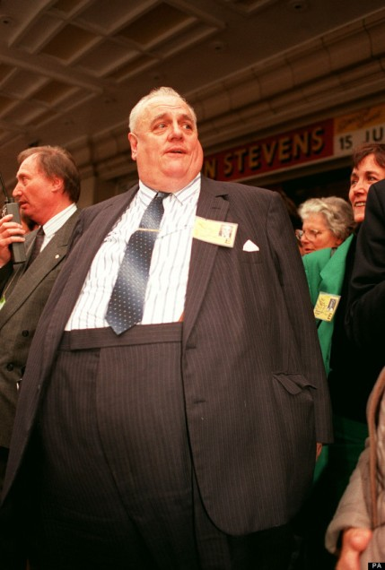 Child abuser Sir Cyril Smith at 1990 Liberal Democrat conference. pic credit: PA News Photo via Huffington Post