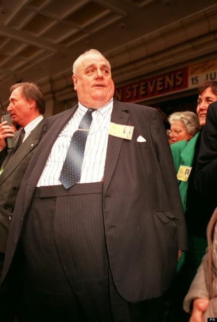 Child abuser Sir Cyril Smith at 1990 Liberal Democrat conference. pic credit: PA News Photo via Huffington Post