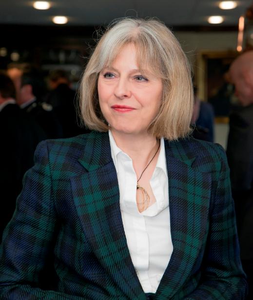 Job half done:Theresa May, home sercretary. Pic Credit: conservatives.com