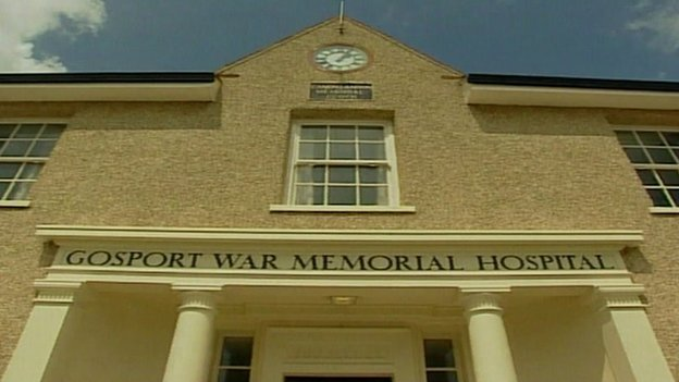 Entrance to Gosport  War Memorial Hospital Picture credit:BBC