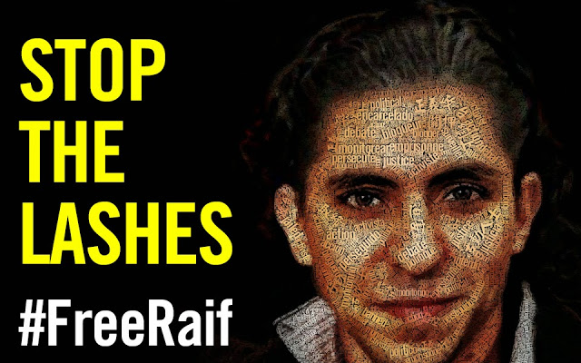 Amnesty International campaign poster for rasif Badawi