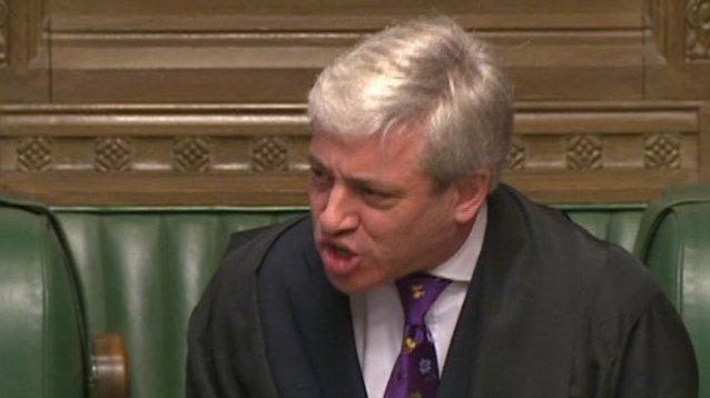 John Bercow, the Speaker  Image credit: bbc