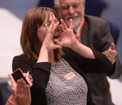 "Speaker Jess Phillips,MP, a "" big gob"" for child abuse survivors? Pic Credit: Twitter"