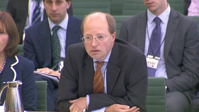 Phillip Rutnam, p;ermanent secretary at the Department of Transport before the Public accounts Committee; Still credit:BBC