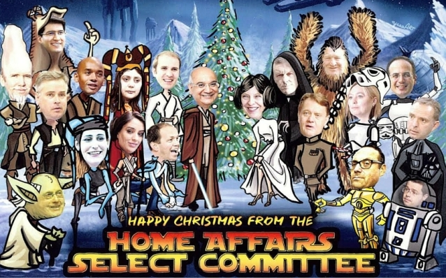 home affairs committee christmas-cards