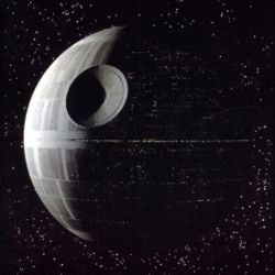 Death Star from Star wards; Pi Credit: Wikipedia