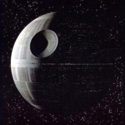 Death Star from Star wards; Pi Credit: Wikipedia