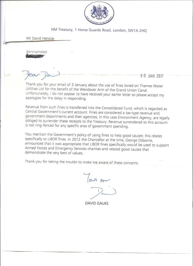 environment agency letter