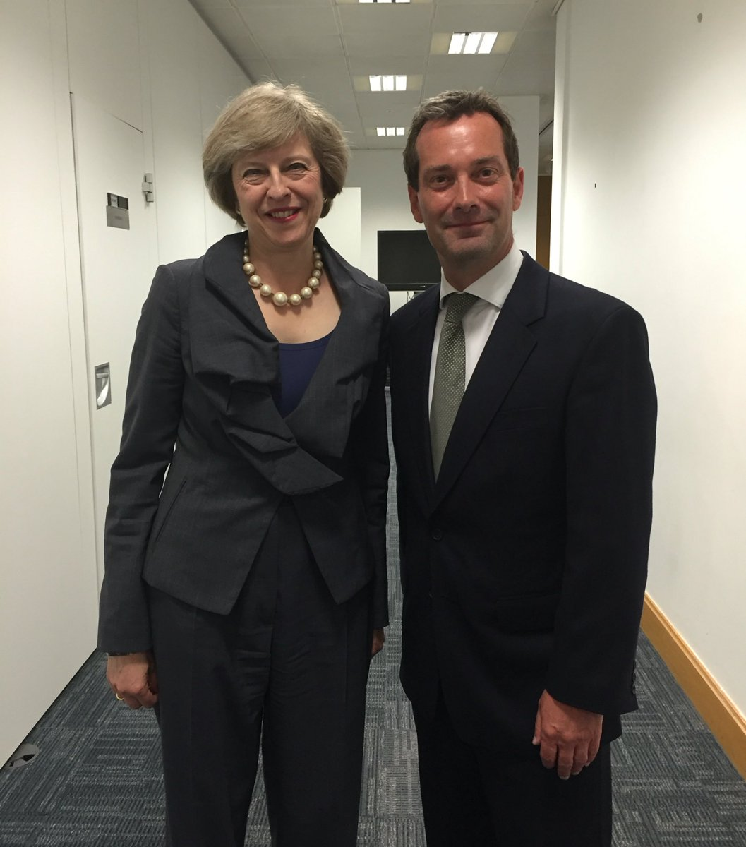 Rob Semple and Theresa May
